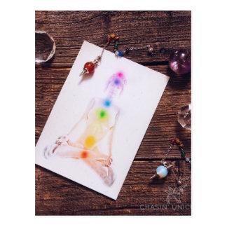 chakras und Balance Postkarte