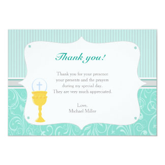 Chalice-Türkis danken Ihnen zu kardieren 12,7 X 17,8 Cm Einladungskarte