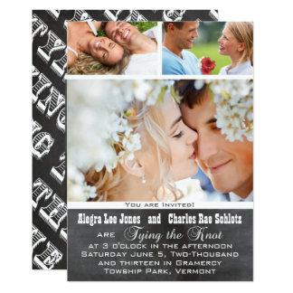 Chalkboad Foto-Typografie-Hochzeits-Einladungen 12,7 X 17,8 Cm Einladungskarte