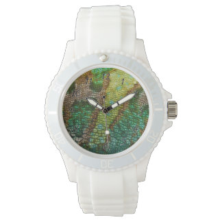 Chamäleon-Haut-Beschaffenheits-Schablone Armbanduhr