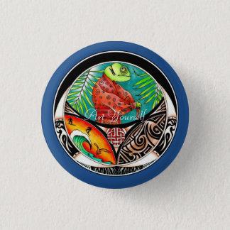 Chamäleon-Kunst-Zeichnen Runder Button 3,2 Cm