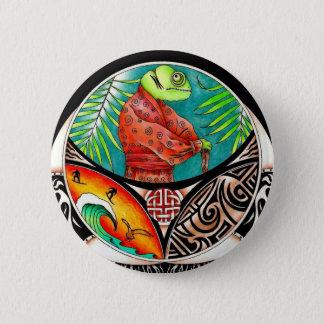 Chamäleon-Kunst-Zeichnen Runder Button 5,7 Cm