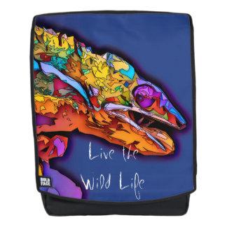 Chamäleon - leben das wilde Leben/der Rucksack