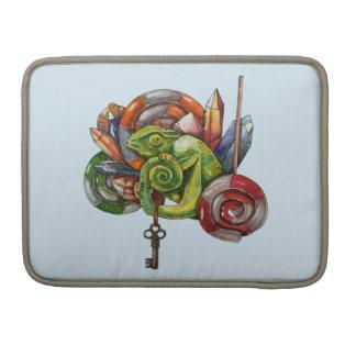 Chamäleon und Kristalle Sleeve Für MacBooks