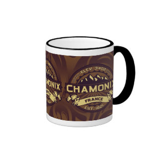 Chamonix-Farblogo Kaffeetasse