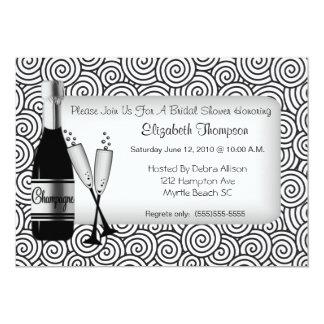Champagne-Brautparty-Einladung 12,7 X 17,8 Cm Einladungskarte