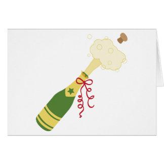 Champagne-Flasche Karte