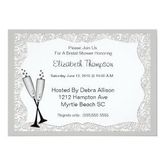 Champagne-Glas-Brautparty-Einladung 12,7 X 17,8 Cm Einladungskarte