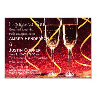 Champagne-Glas-Foto - Verlobungs-Party 8,9 X 12,7 Cm Einladungskarte