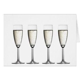 Champagne-Gläser Karte