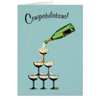 Champagne-Glückwunschkarte Karte