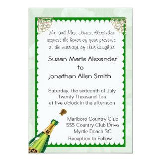 Champagne-Hochzeits-Einladung