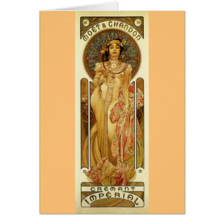 Champagne-Kaiserkunst Nouveau Karte