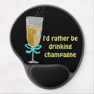 Champagne-Toast Gel Mousepad