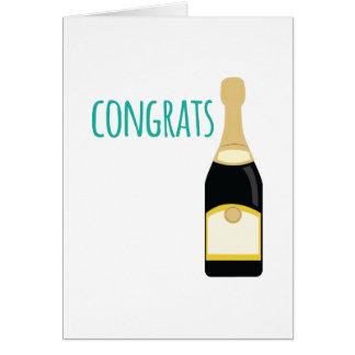Champagner-Glückwunsch Karte