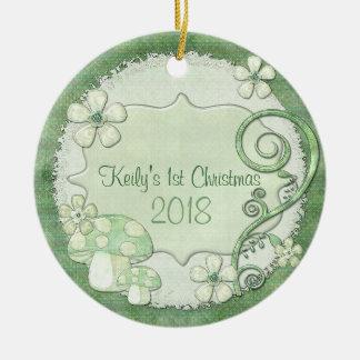 Chantily wunderliche gemischte Medien Rundes Keramik Ornament