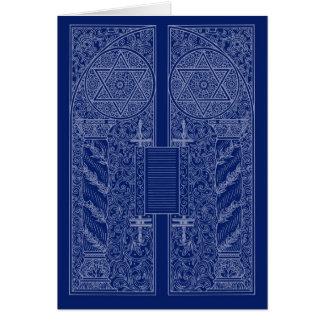 Chanukah ~ Davidsstern Scrollwork Gruß-Karten Grußkarte