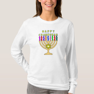 Chanukah Menorah beleuchtet T - Shirt