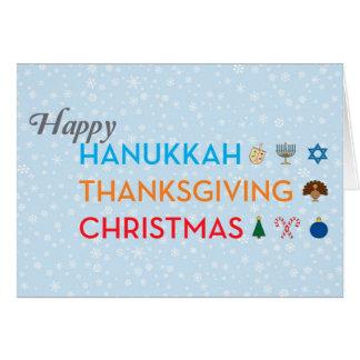 Chanukka, Erntedank, Weihnachtskarte Karte