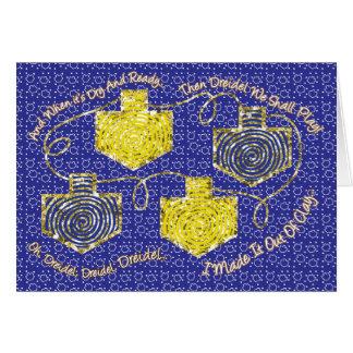 """Chanukka-Gruß-Karte """"Gold Dreidels"""" Grußkarte"""