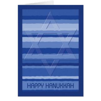 Chanukka-Tapisserie mit prägeartigem Davidsstern Karte