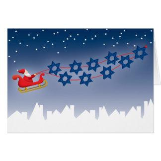 Chanukka- und Weihnachtskarte Karte