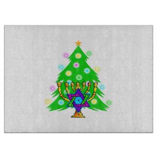 Chanukka-Weihnachtsbaum Schneidebrett