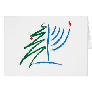 Chanukka-/Weihnachtskarte Karte