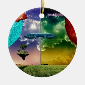Chaos-Planet Rundes Keramik Ornament