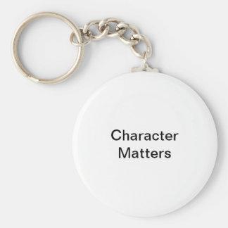 Charakter-Angelegenheiten Schlüsselanhänger