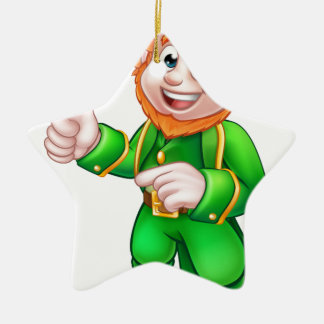 Charakter Cartoon-Kobold-St. Patricks Tages Keramik Stern-Ornament