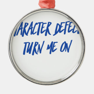 Charakter-Defekt-Erholungs-nüchternes betrunkenes Silbernes Ornament