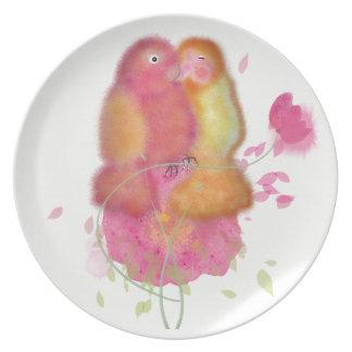 Charaktervogelsammlungs-Melaminplatte Melaminteller