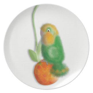 Charaktervogelsammlungs-Melaminplatte Teller