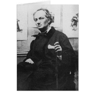 Charles Baudelaire mit Stichen, c.1863 Karte