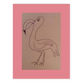 Charles-Flamingo Postkarte
