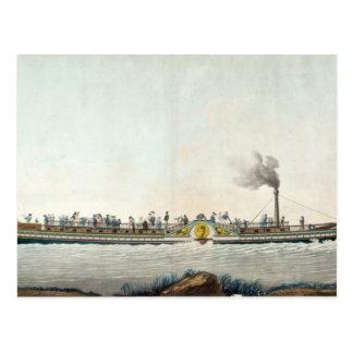 Charles-Philippe, der erste Steamboat Postkarte