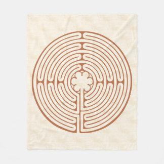 Chartres-Labyrinth Brown Fleecedecke