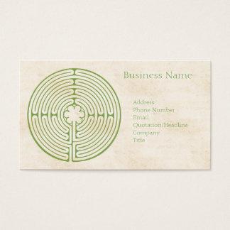 Chartres-Labyrinth-Grün Visitenkarte