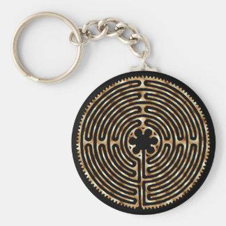 Chartres-Labyrinth-Perlen-dunkle Wege Keychain Standard Runder Schlüsselanhänger