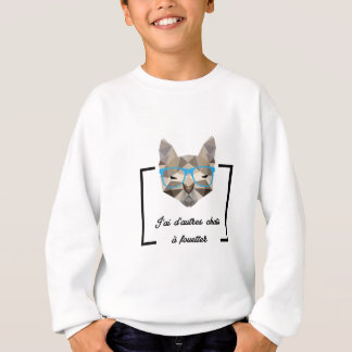 Chat Hipster - Low Poly Sweatshirt