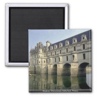 Chateau, Chenonceau, Indre/Loir, Frankreich Quadratischer Magnet