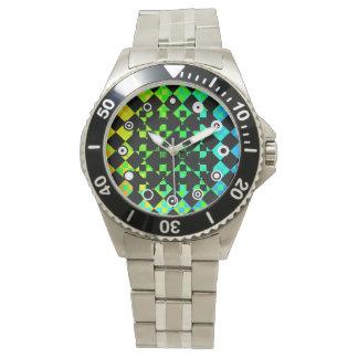 Checkered Uhr der Drehungs-(binäres Gesicht)
