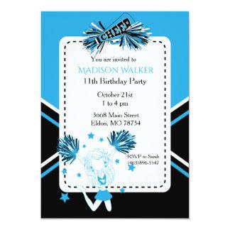 Cheerleader-Geburtstags-Party im Baby-Blau 12,7 X 17,8 Cm Einladungskarte