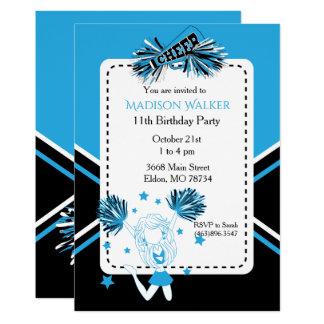 Cheerleader-Geburtstags-Party im Baby-Blau Karte