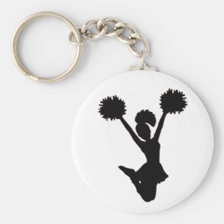 Cheerleader personifizieren schlüsselanhänger