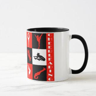 Cheerleading Block-Tasse im Rot Tasse