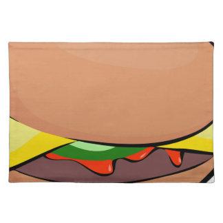 Cheeseburger-Cartoon Tischset