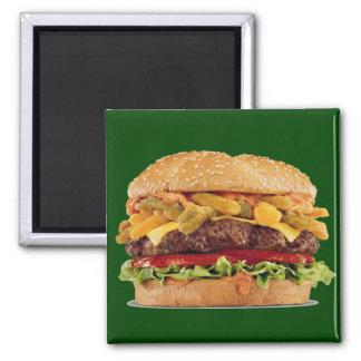 Cheeseburger Quadratischer Magnet