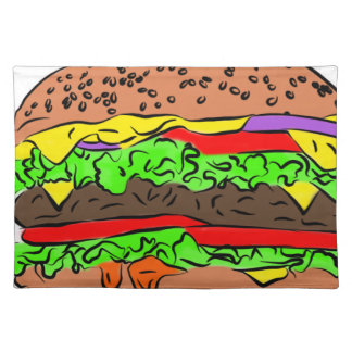 Cheeseburger Stofftischset